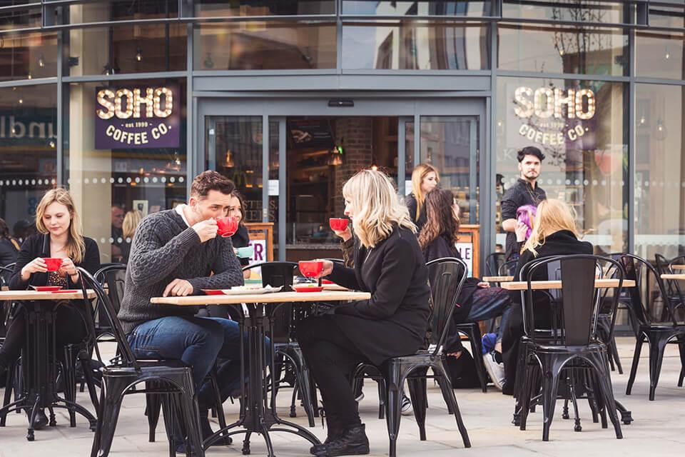 Cheltenham cafe culture - The Brewery Quarter